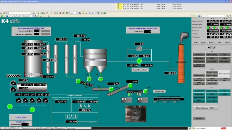 Modernization of the Biomass Boiler Room Control System